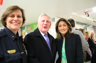Asst Norwalk Police chief Susan Zecca, Mayor Rilling and Mrs. Rilling