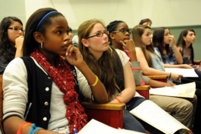 Students participate in the middle school substance abuse curriculum