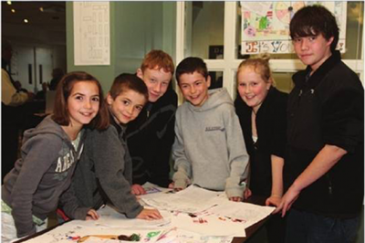 Students participate in the elementary school substance abuse curriculum